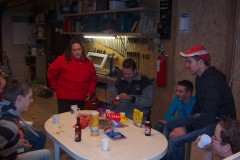 Bouwen van de eddytrein januari 2008