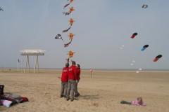 Lente vliegeren strand Zeebrugge (B) 26 maart 2011
