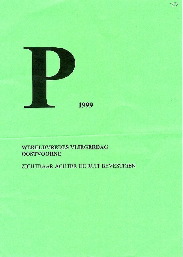 Oostvoorne wereldvredes vliegerdag 10 oktober 1999en