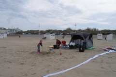 Vliegeren strand Zeebrugge (B) 14 april 2013