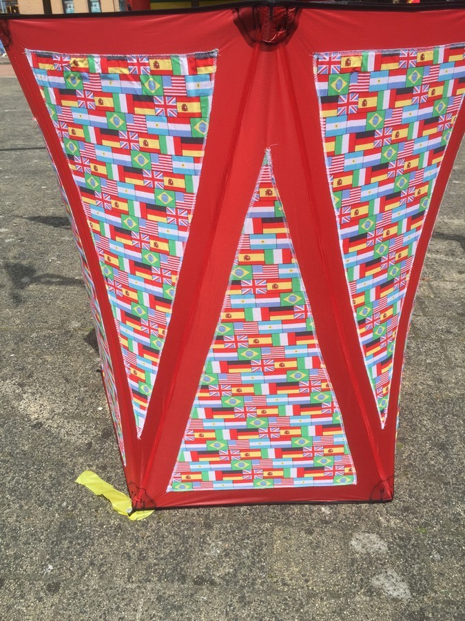 Drumbox met vlaggetjes