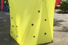 drumbox geel met knopen